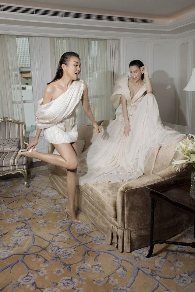 Hà Hồ hội ngộ Thanh Hằng, nhan sắc bà bầu bên bạn thân siêu mẫu không hề bị lấn át, thậm chí còn nổi bật - Ảnh 3.