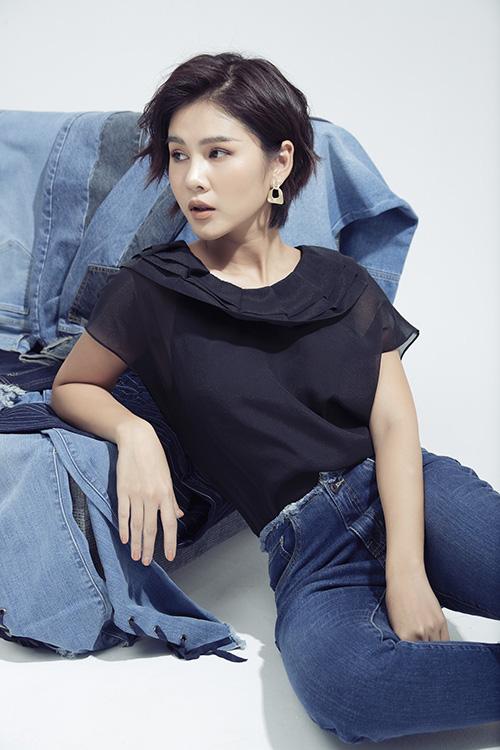 MC Thu Hoài gợi ý đồ jeans công sở - Ảnh 1.