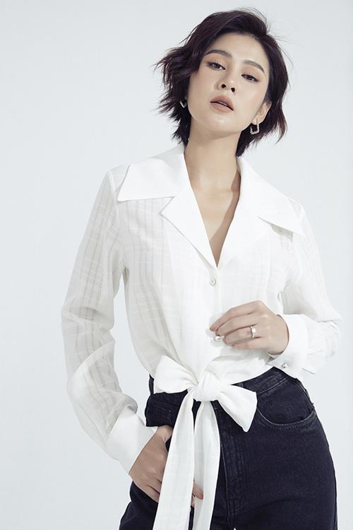 MC Thu Hoài gợi ý đồ jeans công sở - Ảnh 4.
