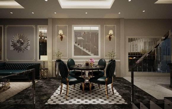 Biệt thự 3 tầng siêu sang chảnh của chị gái Ngọc Trinh, choáng váng với phòng chứa đồ như showroom hàng hiệu - Ảnh 4.