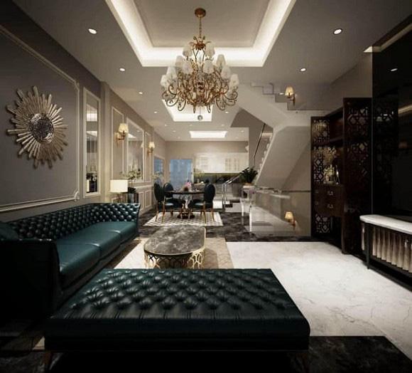 Biệt thự 3 tầng siêu sang chảnh của chị gái Ngọc Trinh, choáng váng với phòng chứa đồ như showroom hàng hiệu - Ảnh 5.