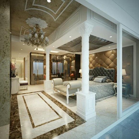 Biệt thự 3 tầng siêu sang chảnh của chị gái Ngọc Trinh, choáng váng với phòng chứa đồ như showroom hàng hiệu - Ảnh 8.