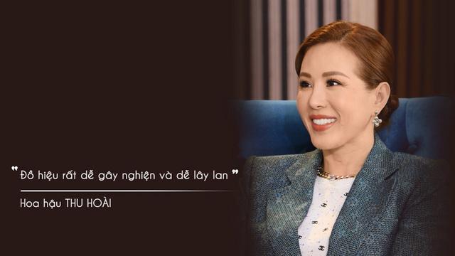 Hoa hậu Thu Hoài: Đồ hiệu rất dễ gây nghiện và lây lan - Ảnh 1.