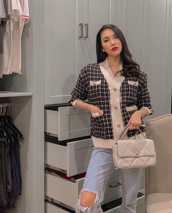 Chớm thu sao Việt diện vải tweed: Mỹ nhân đẹp chất lừ, nam nhân điệu chảy nước - Ảnh 3.