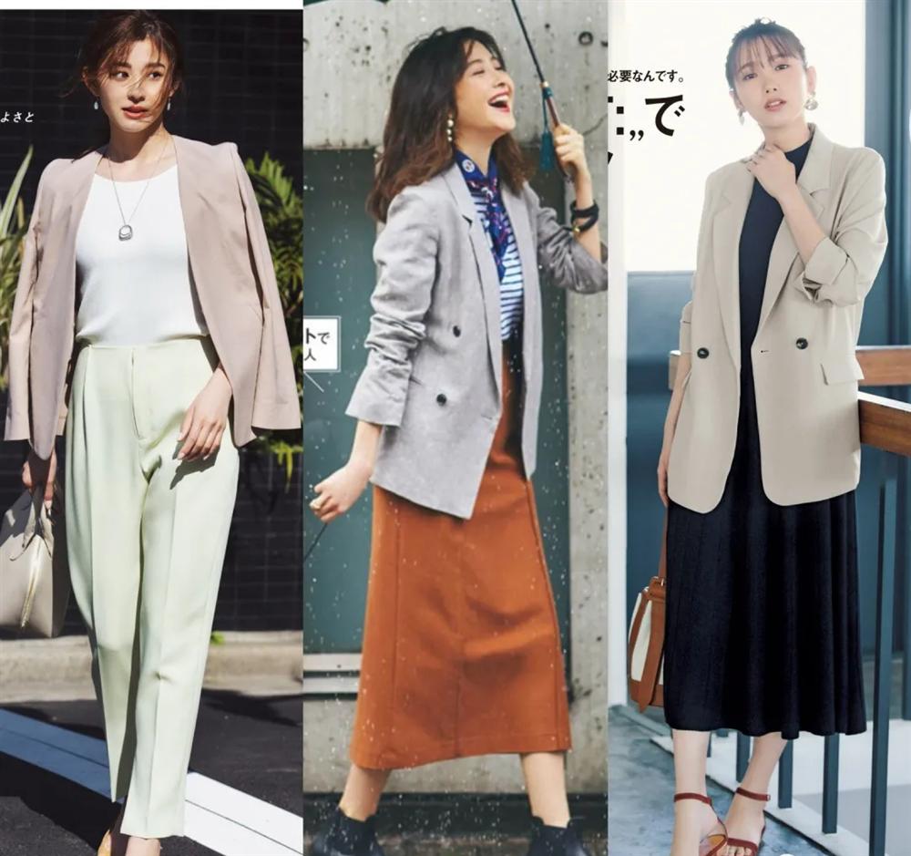 4 công thức diện đồ Thu hack dáng thon gọn, cao ráo mà nàng công sở Việt tuổi 30+ có thể học lỏm từ style của phụ nữ Nhật - Ảnh 5.