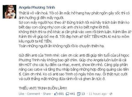 """Angela Phương Trinh """"mắng"""" phụ huynh không biết dạy con 1"""