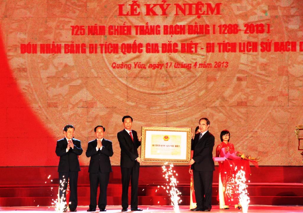 Khu Di tích lịch sử Bạch Đằng đón Bằng xếp hạng Di tích quốc gia đặc biệt 1