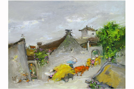 Thương nhớ đồng quê trong tranh Nguyễn Văn Cường 3