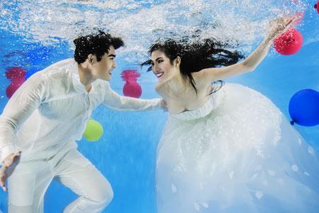 Người mẫu Trúc Diễm chụp ảnh cưới dưới nước 6