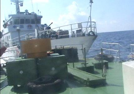 Tàu Trung Quốc tiếp tục đâm va, phun nước gây hư hỏng tàu Việt Nam 1