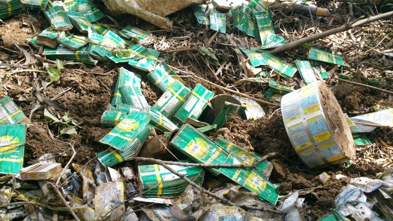 Cận cảnh hóa chất độc hại mà Nicotex Thanh Thái chôn xuống lòng đất ở Thanh Hóa 5