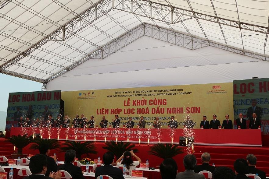 Thanh Hóa: Khởi công dự án Liên hợp Lọc hóa dầu Nghi Sơn 2