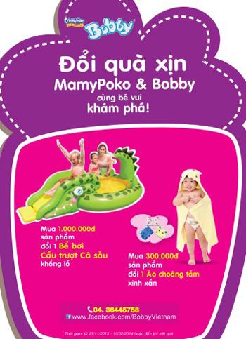 """""""Đổi quà xịn Mamypoko & Bobby, cùng bé vui khám phá!"""" 1"""