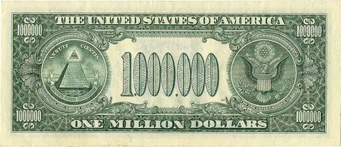 Mặt sau của tờ 1 triệu đôla. Ảnh: PV.