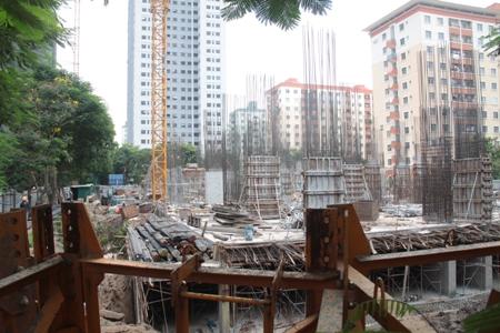 Dự án VP5 Linh Đàm đã bị đình chỉ thi công 1