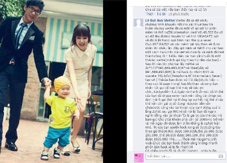 """Dùng ảnh gia đình ca sỹ Lý Hải để lừa nạp thẻ Viettel 500 nghìn """"ăn"""" 2 triệu 1"""