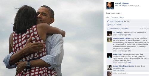 Ảnh Obama ôm vợ gây sốt 1