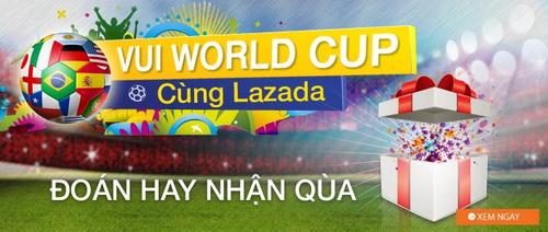 Sôi động World Cup 2014 cùng ngàn voucher tại Lazada 2