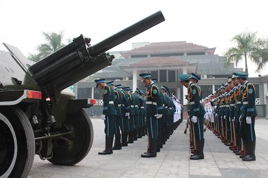 Cận cảnh công tác duyệt nghi thức Lễ tang Đại tướng 5