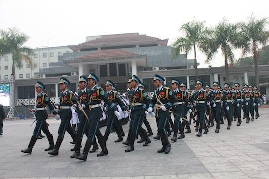 Cận cảnh công tác duyệt nghi thức Lễ tang Đại tướng 6