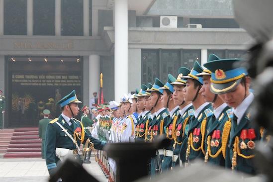 Cận cảnh công tác duyệt nghi thức Lễ tang Đại tướng 8