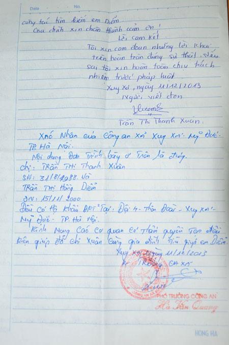 Nữ sinh lớp 8 mất tích ở Hà Nội 1