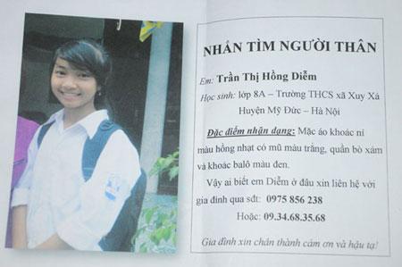 Nữ sinh lớp 8 mất tích ở Hà Nội 3