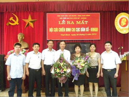 Thái Bình ra mắt Hội Cựu chiến binh Chi cục DS - KHHGĐ   1