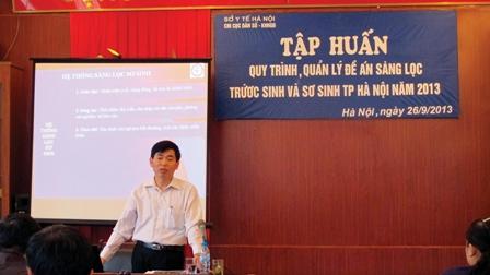 Hà Nội: Hơn 300 cán bộ được tập huấn sàng lọc trước sinh và sơ sinh 1