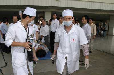 Bộ Y tế tham gia phục vụ diễn tập ứng phó thiên tai khu vực ASEAN  1