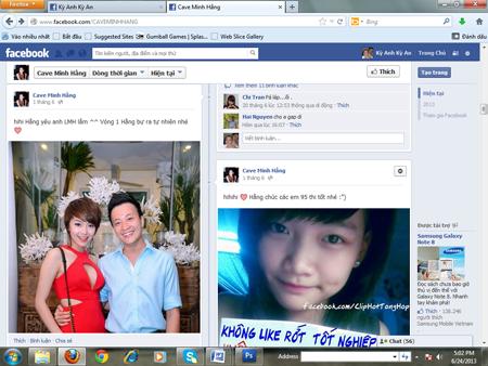 Minh Hằng bị lập FaceBook bôi nhọ nhân phẩm 2