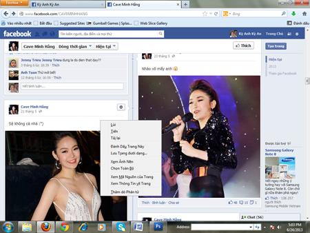 Minh Hằng bị lập FaceBook bôi nhọ nhân phẩm 3