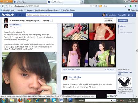 Minh Hằng bị lập FaceBook bôi nhọ nhân phẩm 6