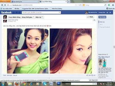 Minh Hằng bị lập FaceBook bôi nhọ nhân phẩm 7