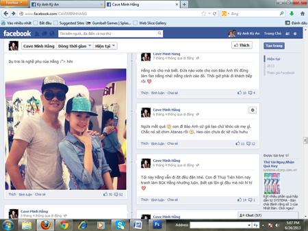 Minh Hằng bị lập FaceBook bôi nhọ nhân phẩm 8
