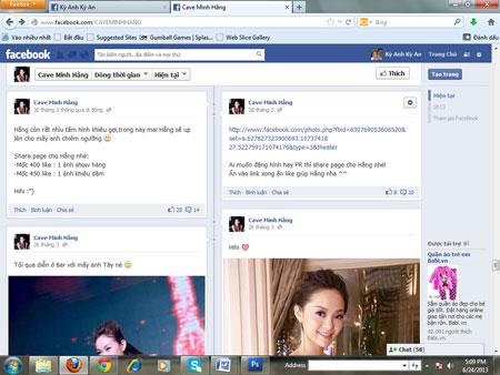 Minh Hằng bị lập FaceBook bôi nhọ nhân phẩm 10