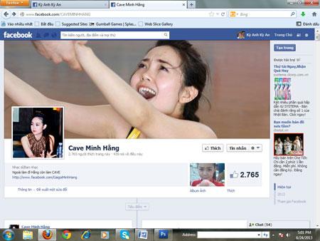Minh Hằng bị lập FaceBook bôi nhọ nhân phẩm 1