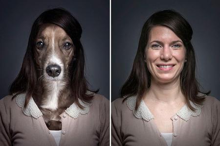 Chó trưng diện giống chủ nhân chụp ảnh chân dung 3