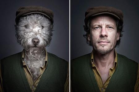 Chó trưng diện giống chủ nhân chụp ảnh chân dung 4