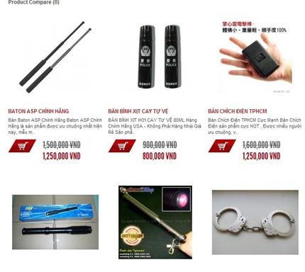 Kinh sợ nhiều trang web bán đao, kiếm, súng ống công khai 5
