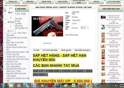 Kinh sợ nhiều trang web bán đao, kiếm, súng ống công khai 3