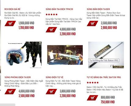 Kinh sợ nhiều trang web bán đao, kiếm, súng ống công khai 4
