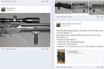 Kinh sợ nhiều trang web bán đao, kiếm, súng ống công khai 2