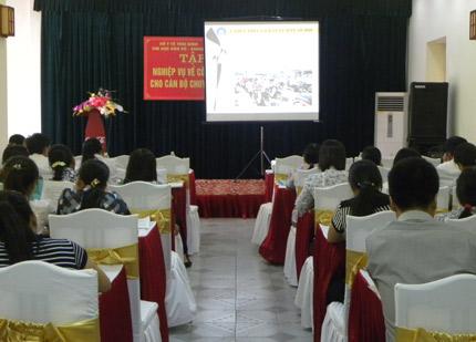 Thái Bình: Tập huấn nghiệp vụ dân số cho cán bộ chuyên trách cơ sở 1