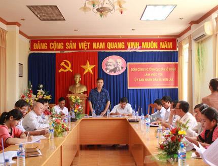 Đoàn công tác Tổng cục Dân số-KHHGĐ làm việc tại huyện Lắk (Đắk Lắk) 1
