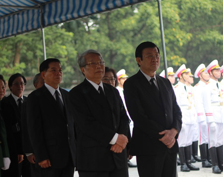 Lãnh đạo Đảng, Nhà nước thành kính viếng Đại tướng Võ Nguyên Giáp 2