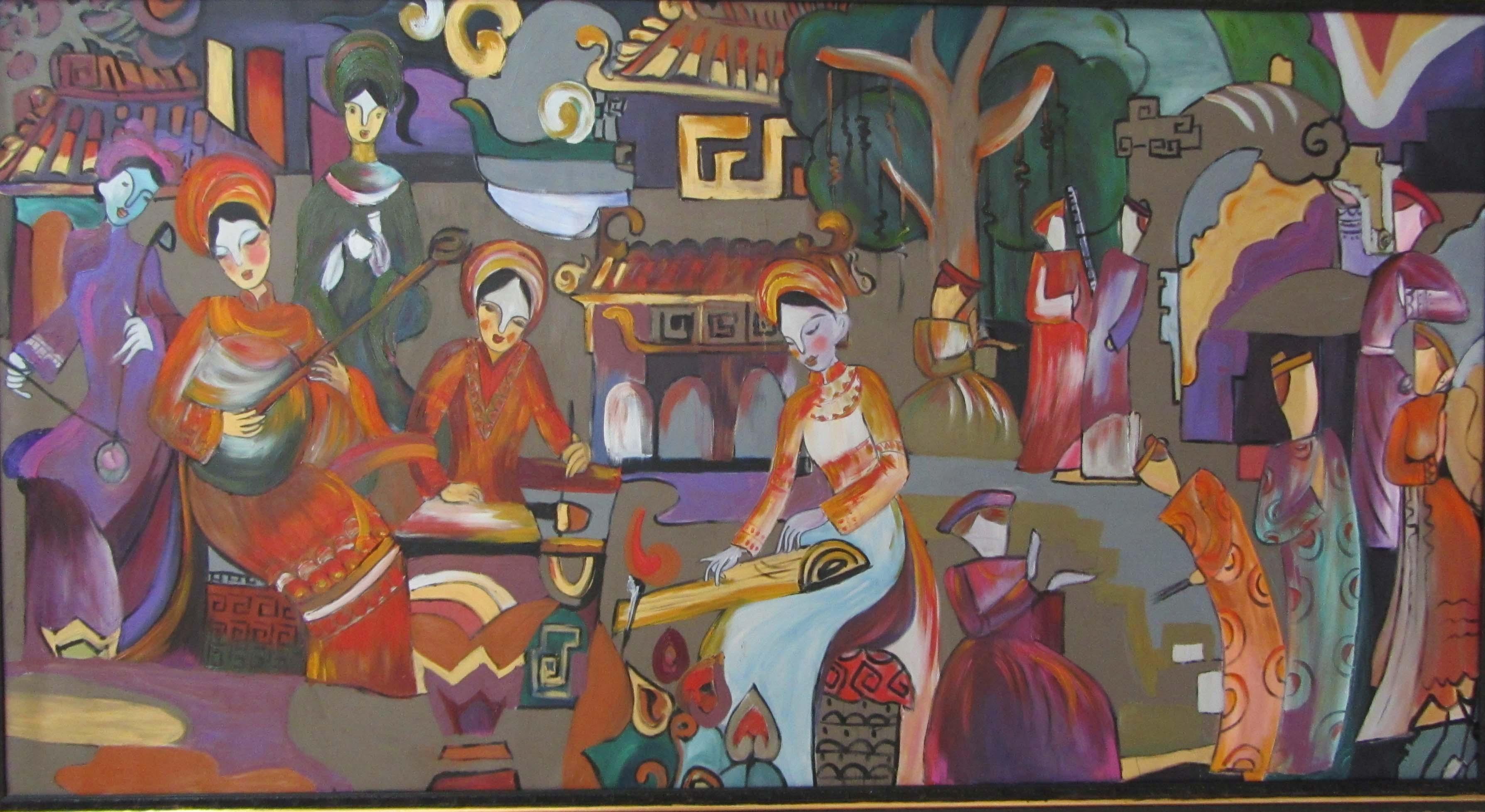 Cận cảnh các tuyệt phẩm mỹ thuật miền Trung & Tây Nguyên 12