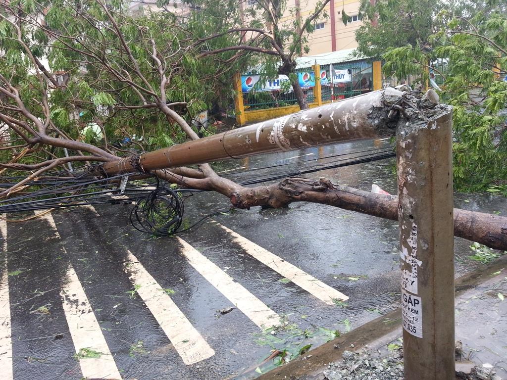 Đà Nẵng tan hoang sau bão số 11 2
