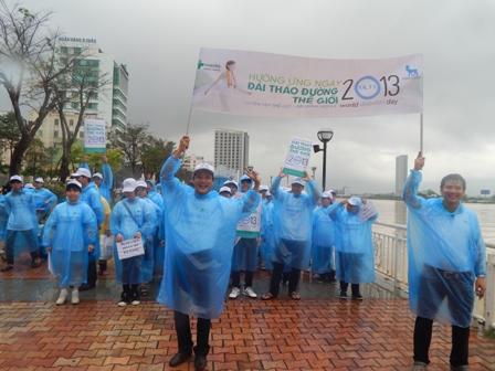 Hàng trăm người đi bộ hưởng ứng ngày phòng chống bệnh đái tháo đường 1