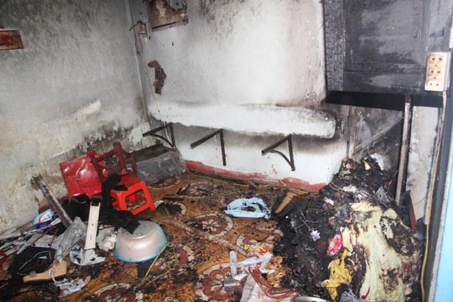 Đà Nẵng: Phòng trọ của nhân viên siêu thị bị cháy rụi 1